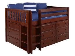 bedroom beautiful nielsen full size storage loft bed our nielsen