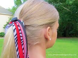hair ribbons how to make spirit and cheer ribbons hair bows with the i top