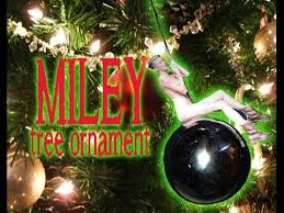 miley cyrus wrecking tree ornament