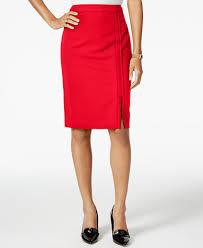 pencil skirts hilfiger pipe trim pencil skirt skirts women macy s