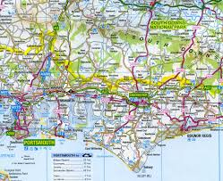 Santander Spain Map by Survey Road Map 8 South East England