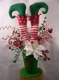 elf in hat christmas arrangement milanddil designs pinterest