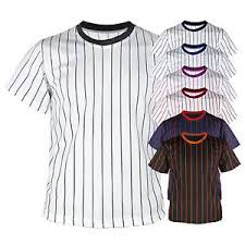 new mens baseball team t shirts jersey blank striped custom