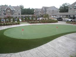 houston apartment complex artificial putting green u0026 bocce ball