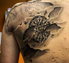3d Compass Tattoos 50 Amazing Compass Tattoos On Shoulder