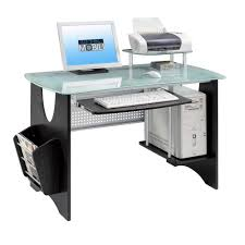 outstanding modern office desk design with oval glass table