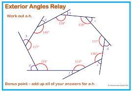 Finding Interior Angles Of A Polygon Worksheet Angles And Polygons Miss Brookes Maths