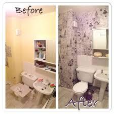 newspaper wallpaper bathroom