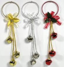 amazon com christmas door hangers set of 3 jingle bell hangers
