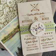 Customized Wedding Invitations Rustic Wedding Invitation Wood Engraved Wedding Invitation