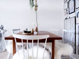 Diy Dining Room Chair Covers Diy Ikea Sheep Skin Hack Into Chair Covers Shelterness