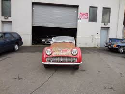 for restoration for sale 1957 triumph tr3 with 2 tops running engine for restoration for