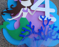 Under The Sea Centerpieces by Mermaid Party Cake Topper Mermaid Party Decorations Under The