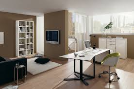 office futuristic office room ideas with brown wall color and