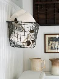 Bathroom Storage Wall Easily Boost Bathroom Storage With Wall Mounted Baskets Hgtv