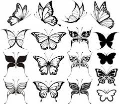 color ink butterfly wings tattoos on back photo pictures