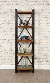 Narrow Bookcase by Industrial Chic Open Narrow Bookcase Hampshire Furniture