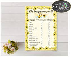who knows mommy best baby shower game printable gallery baby