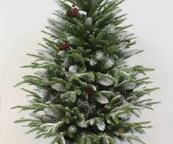 charmful frosted trees central for snowy pine flocked medium