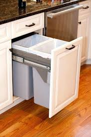 diy trash can cabinet projects instructions kitchen garbage can