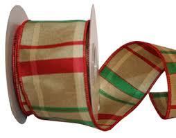 christmas ribbon christmas ribbon plaid checked striped