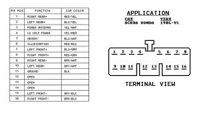 radio wiring diagram 97 honda civic wiring diagram