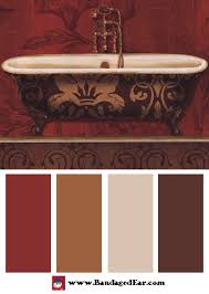 Bathrooms Painted Brown Bathroom Color Palette Royal Red Bath I Design Seeds