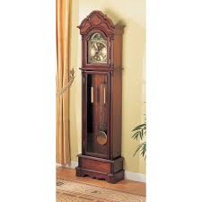 Outdoor Pedestal Clock Thermometer Coaster Furniture Westminster 78 5 In Grandfather Clock Hayneedle