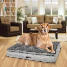 pillow top dog bed kirkland signature 36 x 40 pillow top orthopedic pet napper gray