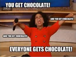 Chocolate Meme - you get chocolate everyone gets chocolate and you get chocolate