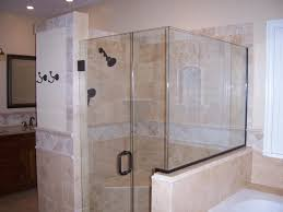 bathroom design travertine tile with rain shower and cardinal
