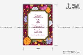 wedding card designs in india think within