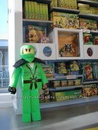 Lego Ninjago Halloween Costume Homemade Lego Lego Ninjago Green Ninja Costume Costumes