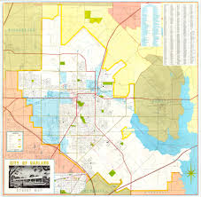 Texas Cities Map Garland Landmark Society City Map Garland Texas 1968 1970