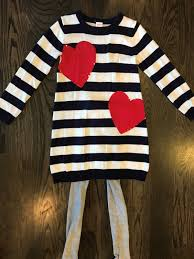nice amazing euc sz 8 gymboree blue white stripe heart