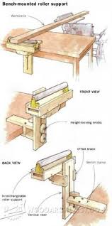 Drafting Table Woodworking Plans Adjustable Roller Stand Plans Workshop Solutions Plans Tips And