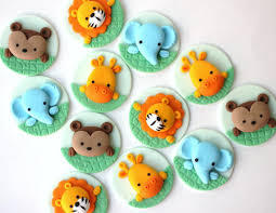 safari cake toppers jungle fondant cupcake topper set safari cupcake topper