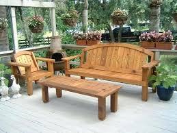 wood outdoor furniture solid wood western red cedar patio set