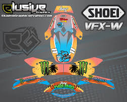motocross helmet wraps tropical u2014 elusive graphics