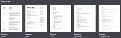 resume templates for docs 6 docs resume templates for all styles and preferences