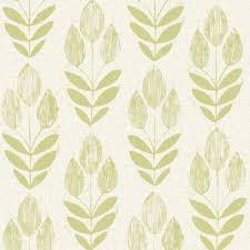beacon house scandinavian green block print tulip wallpaper 2535