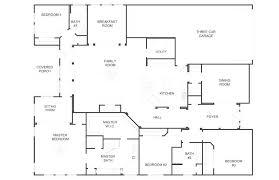 5 bedroom 3 bath floor plans 4 bedroom ranch house plans ranch style house plan 4 beds 2 baths