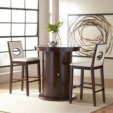 dining room 3 piece counter height bistro dining set with black