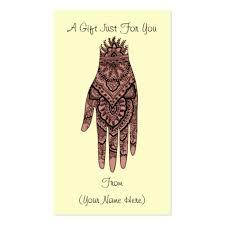 henna tattoo business card templates standard size bizcardstudio