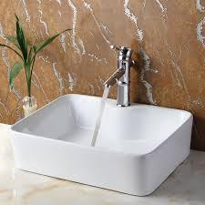 vessel sinks for bathrooms cheap elite ceramic rectangular vessel bathroom sink reviews wayfair