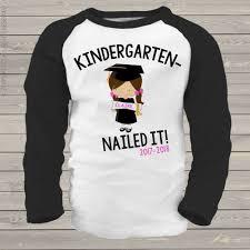graduation shirt personalized kids shirt kindergarten completion girl graduation