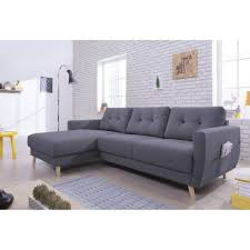 canapé d angle méridienne canapé fixe canapé d angle 4 places scandinave méridienne gris