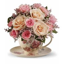wedding flowers gift teleflora s teacup bouquet in az arcadia