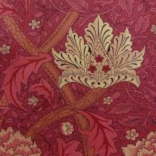 designer wandle windrush fabric in brick by morris co 1883 originally