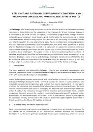 nov 2016 resilience and sustainability challenge paper